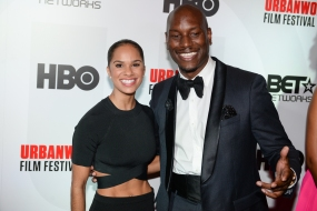 "Tyrese Gibson and Ballerina Misty Copeland during the Closing Night Screening of ""A Ballerina's Tale"" {Photography Credit: Fred Sly}"