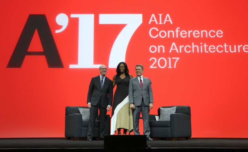 Former First Lady Michelle Obama Was A Keynote Speaker At The AIA Conference on Architecture