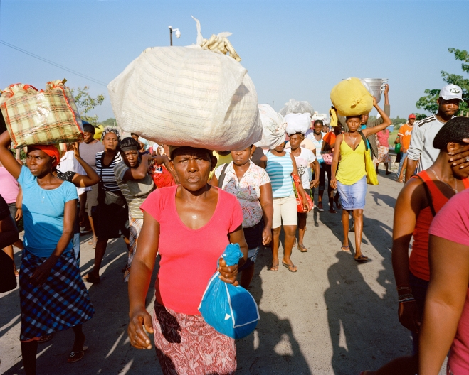Alex Morel Haitians Crossing the Ouanaminthe/Dajabón Border on Their Way to the Binational Market on the Dominican Side, 2015