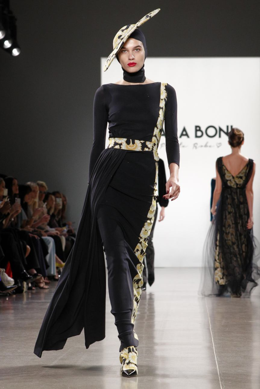 Chiara Boni presented her Fall/Winter 2019 collection for her label Chiara Boni La Petite Robe during New York Fashion Week (NYFW)